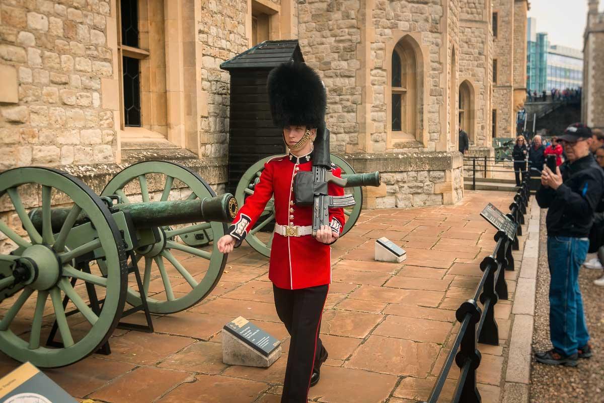 Guard at the Royal Crown Jewels